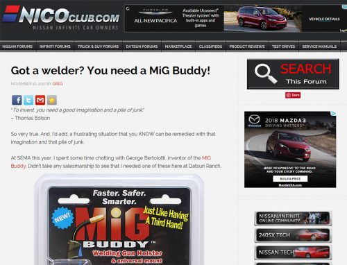 MiG Buddy Featured in NICO Club Article