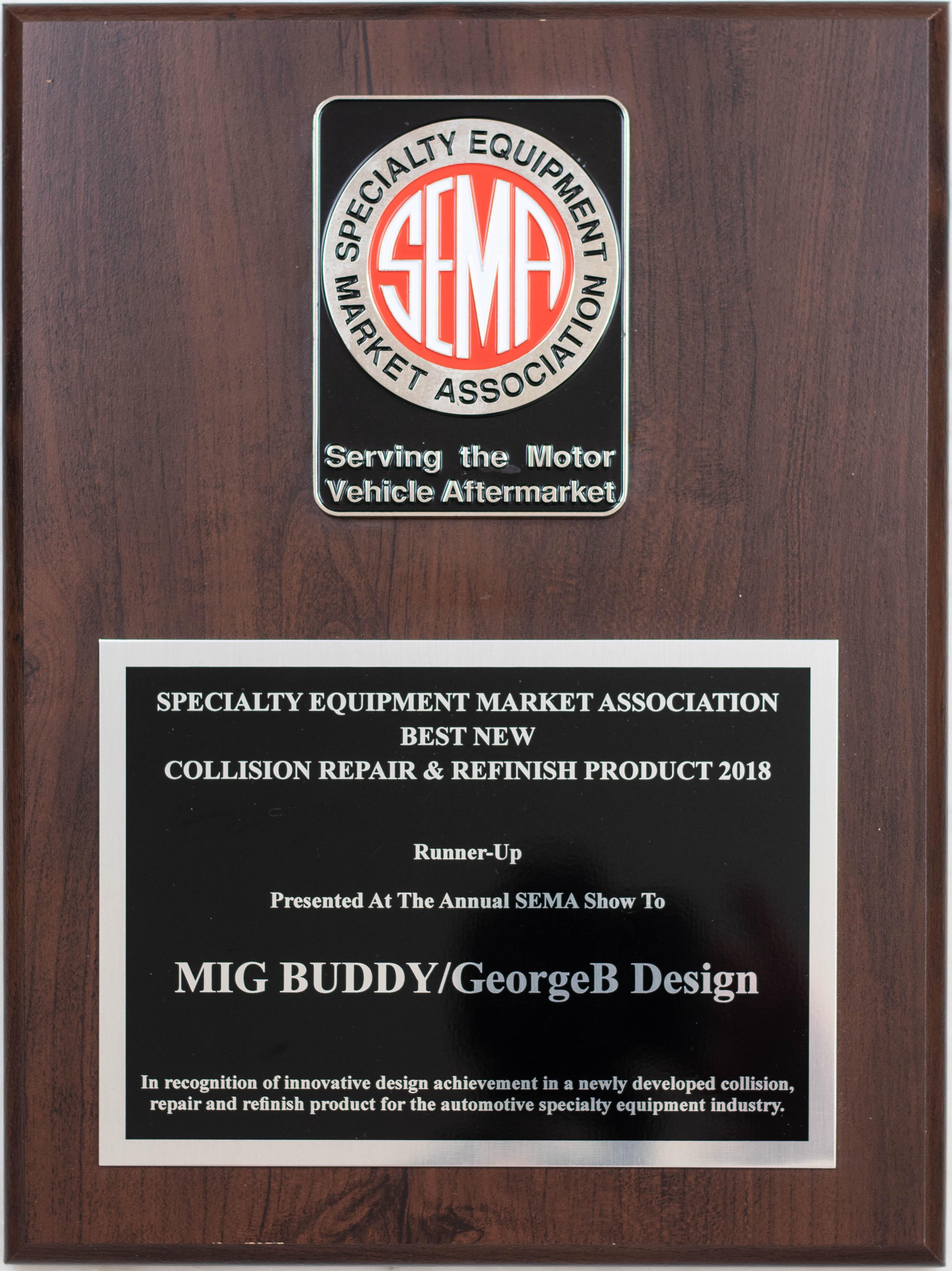 MiG Buddy – SEMA Award Plaque